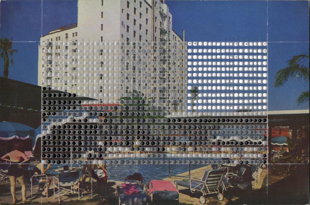 Borrowed Landscapes Study No.121 /California, Hollywood, Roosevelt Hotel and Promenade