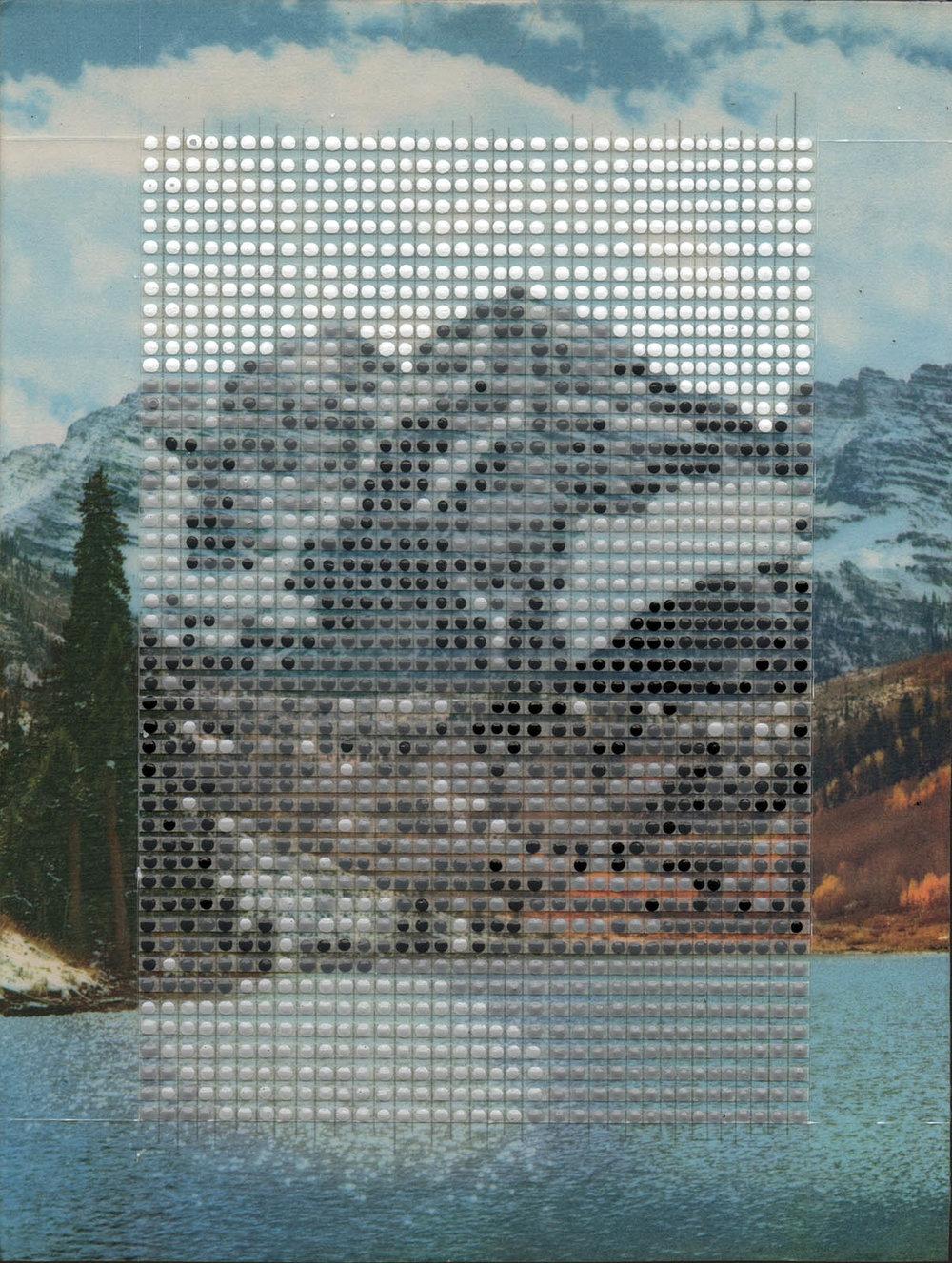 "Maroon Bells in Winter, Aspen Colorado / Borrowed Landscape No.10 / 2017 / 11""h x 8.25""w / Private collection"