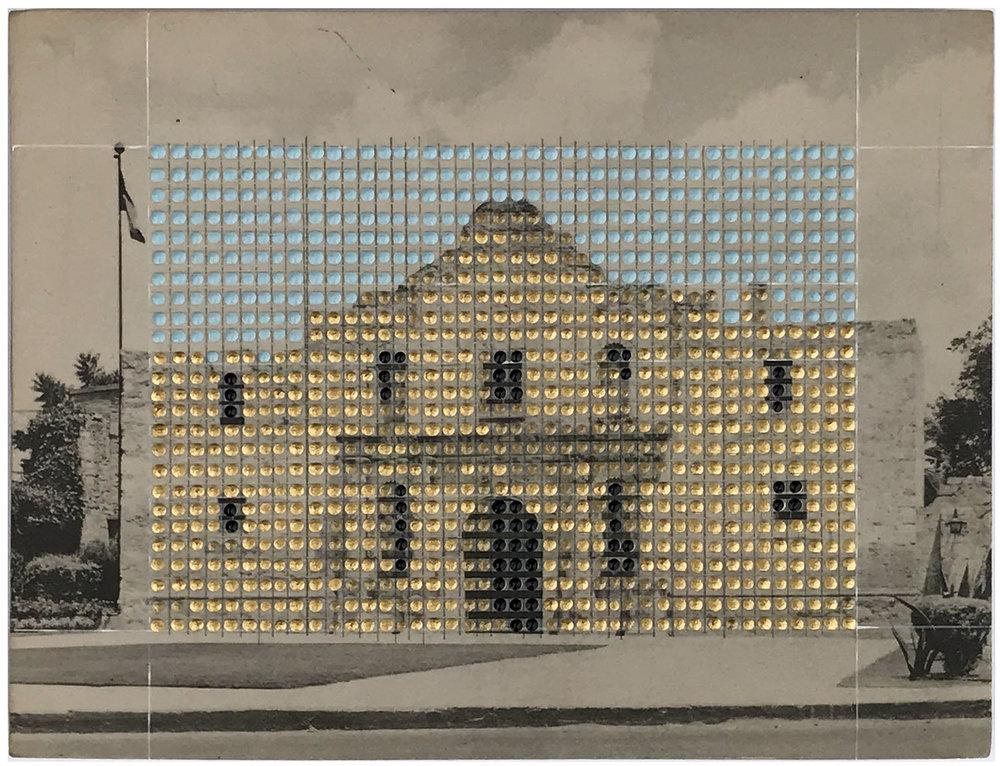 Borrowed Landscapes Study No.163/Texas, San Antonio, The Alamo (in gold)
