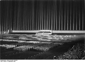 Albert Speer's design for the Nuremberg Rally, inspiration for the Decepticon Hall of Heroes. Yikes.