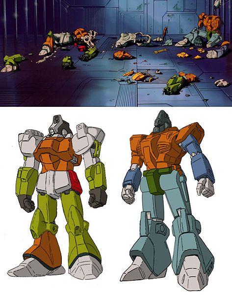 Rosencrantz and Guildenstern, of  Mobile Suit Zeta Gundam  fame.