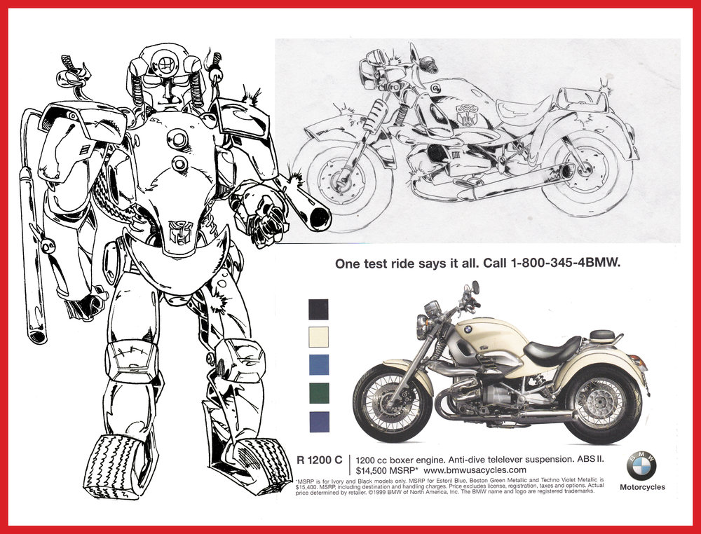 One of Ryan's actually pretty decent original Transformer designs from junior year of high school (1995).
