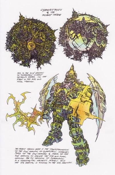 Cybertron's (Primus's) robot form.