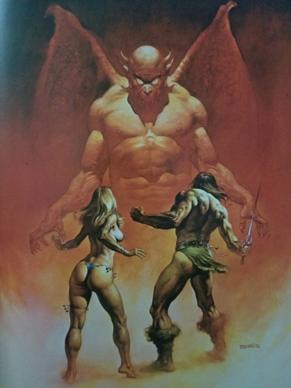 Boris Vallejo. Caleb thinks he's so smart. With his...knowledge.