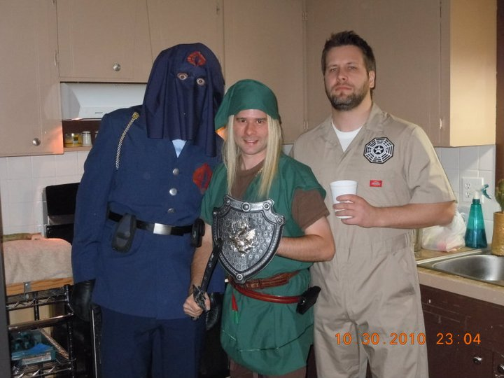 Cobra Commander (Caleb) Link (Ryan) and DHARMA Initiative member (Aaron).