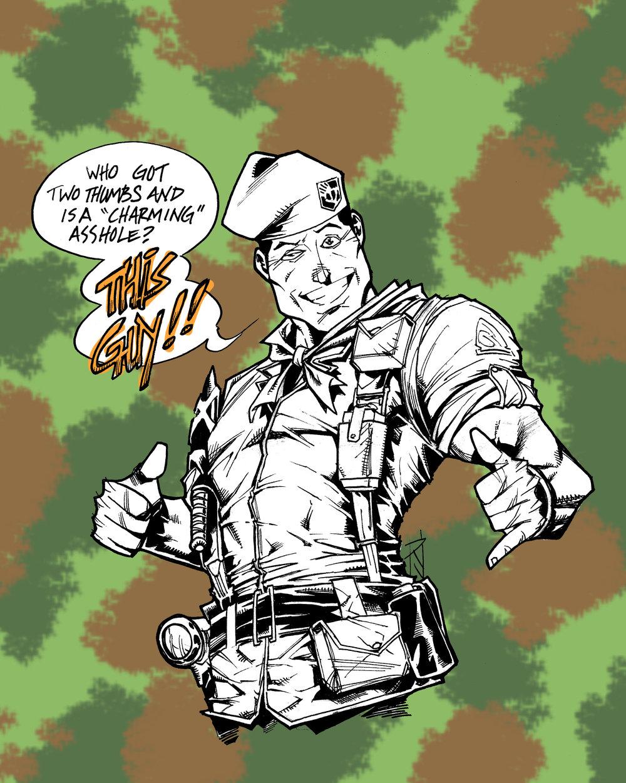 Lt. Falcon is the Hot Rod of G.I. Joe: The Movie.