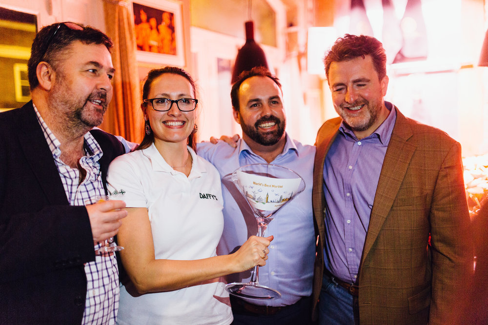 Trophy presentation to Daffy's Gin at the 2017 Contenders Challenge Event in London