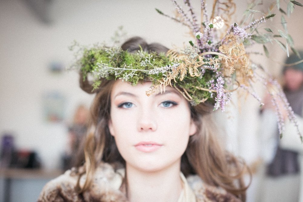 gorgeous Hattie my woodland floral crown creation   Image by Nick Ilott
