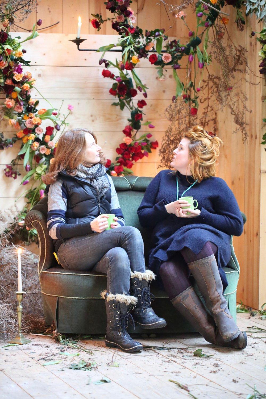 A well earned tea break for happy florists!  Image by Julie KIng