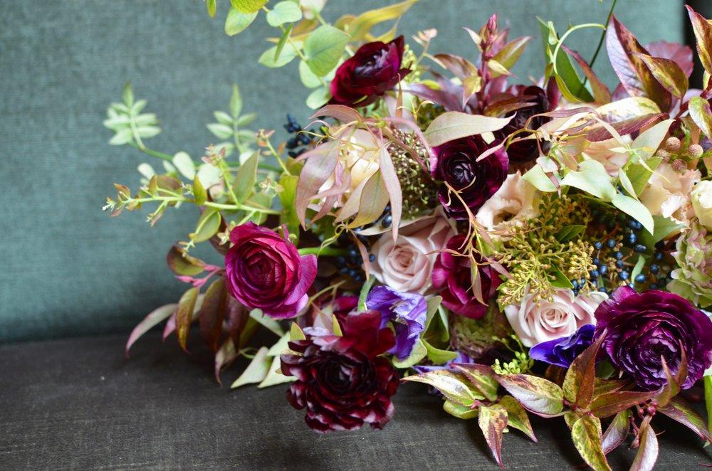Winter bridal bouquet  Image by Brigitte Girling