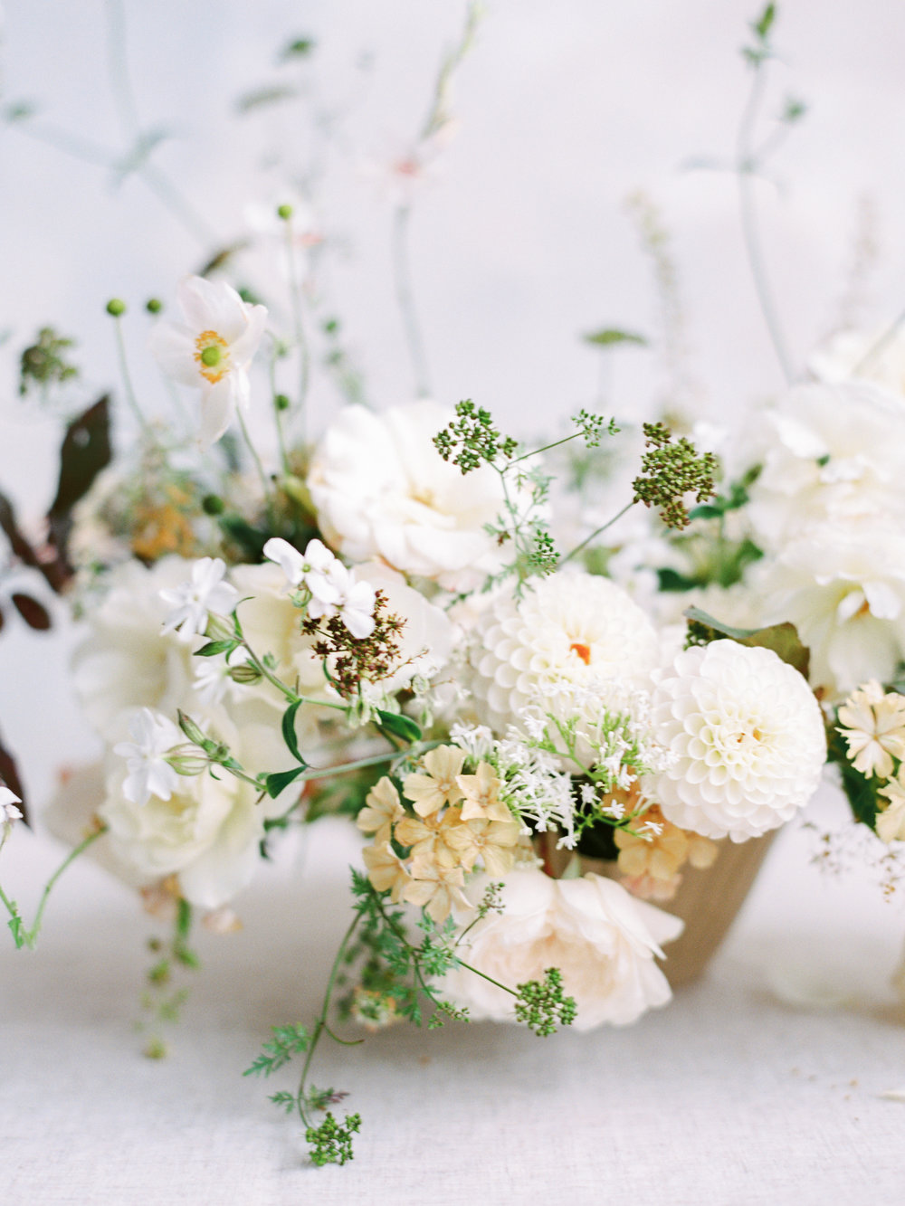 Florals - Moss & Stone Floral Design for The Fine Art Wedding Boutique | Image - Hannah Duffy