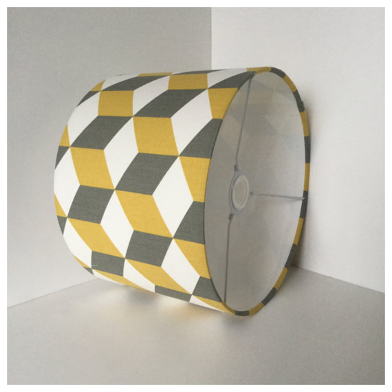 Saffron & Grey work well together too, as featured here in this gorgeous cube lightshade via The Gray Room at Etsy.com | £21.99+