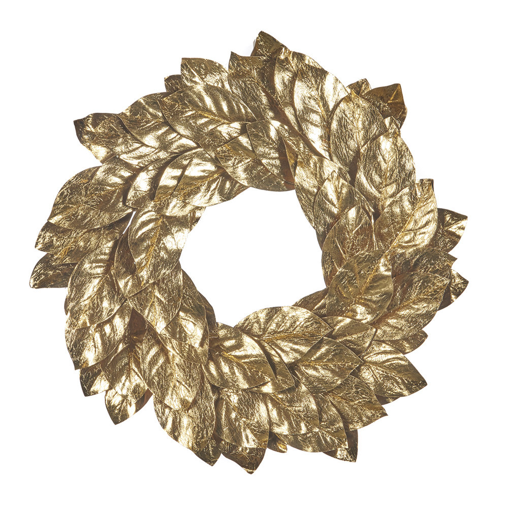 Amara gold leaf wreath