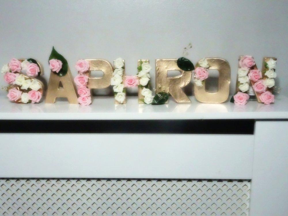Saphron London Floral MDF letters