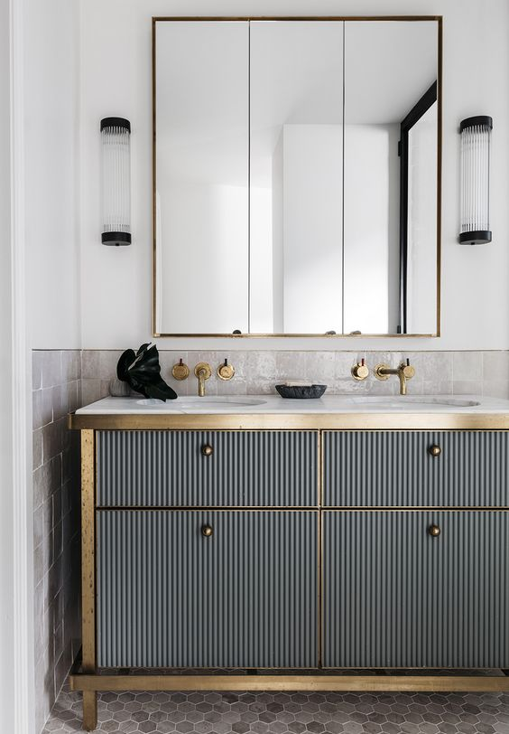 Gold fixings and details will be the perfect accent feature | Image via Pinterest