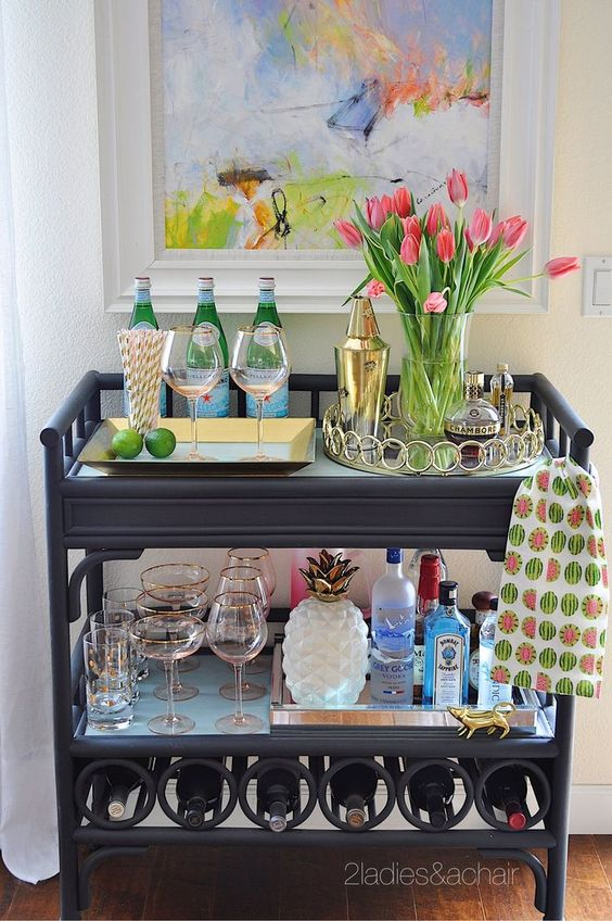 2 of my favourite stylists show us how it's done with their DIY bar cart.
