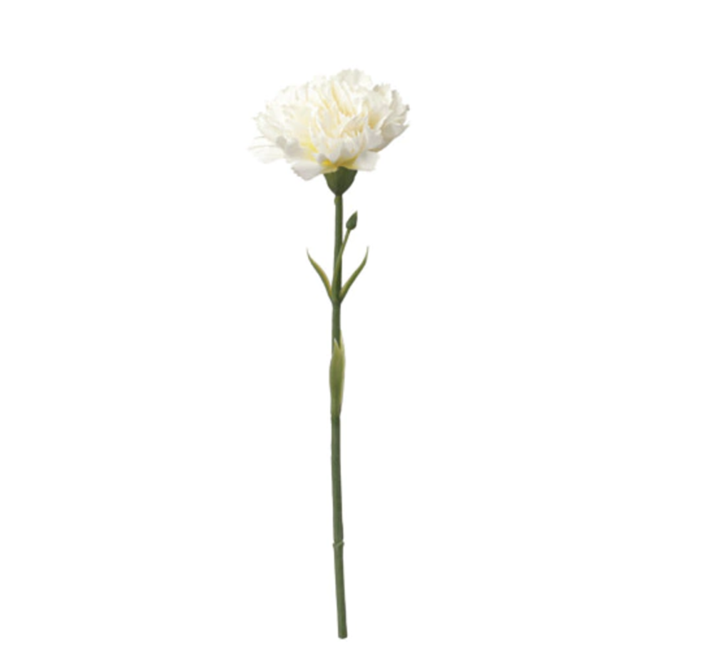 Artificial flower SMYCKA Carnation/white £0.40