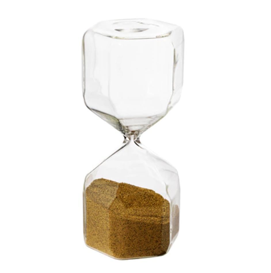 Decorative hourglass TILLSYN Clear glass £7.95
