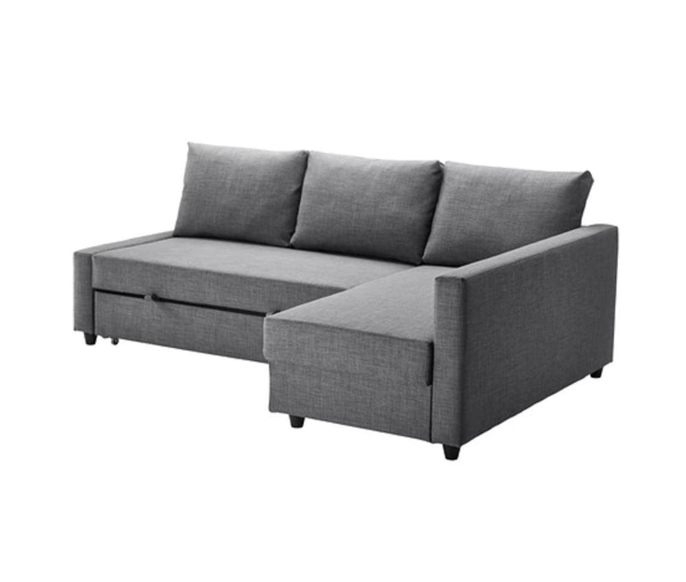 Corner sofa-bed with storage FRIHETEN Skiftebo dark grey £429