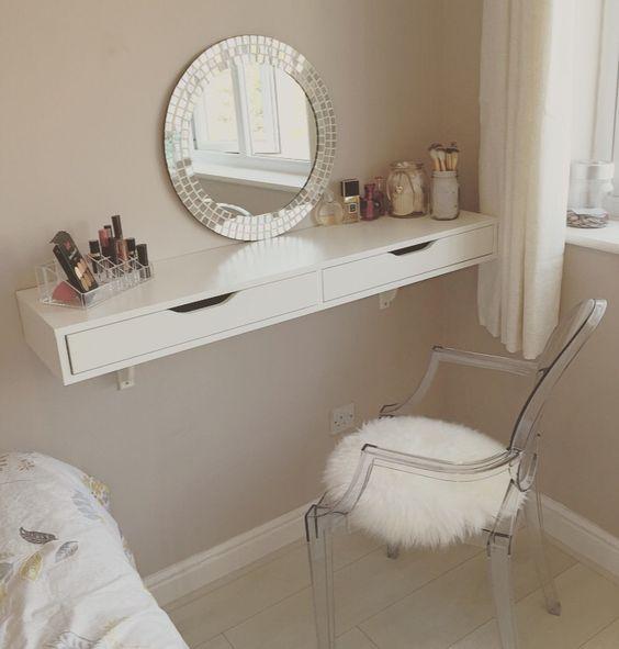 Wall mounted vanity unit with DIY mirror a la  Simply Home