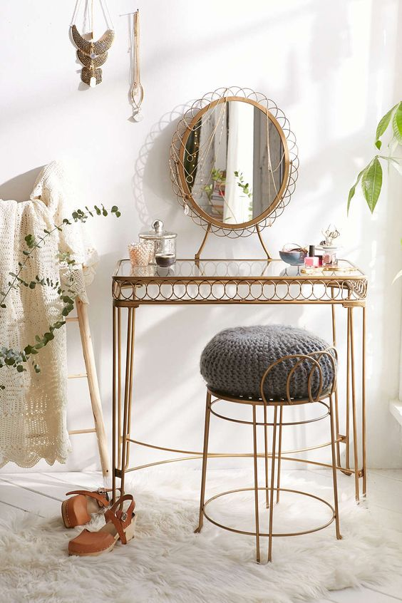 Urban Outfitters'  Wire Loop Vanity , $159; photo via Urban Outfitters