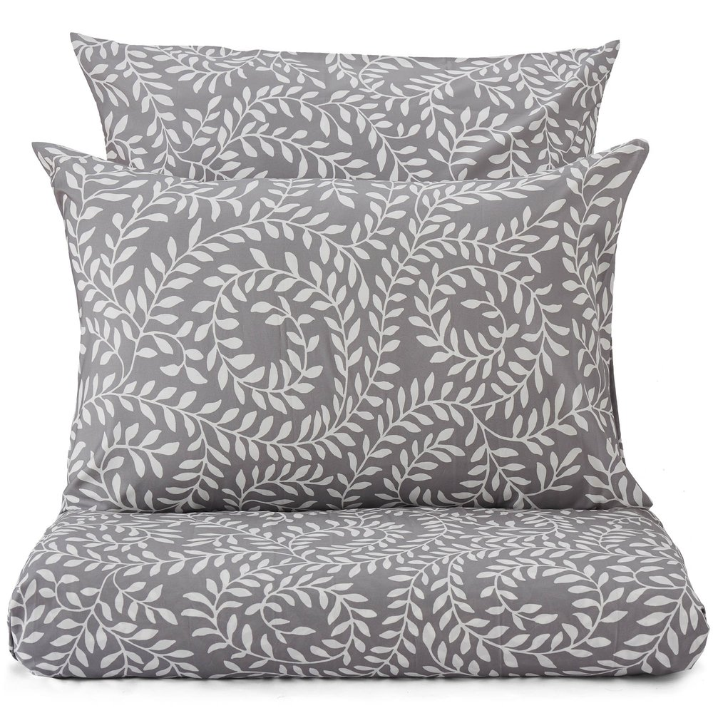 This stylish leaf print duvet set is available at Urbanara from £49