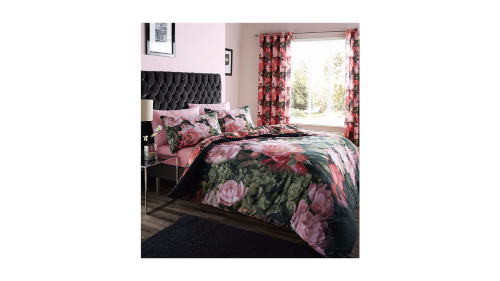Catherine Lansfield Dramatic Floral Duvet Cover Set - Single