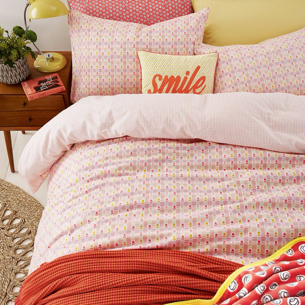 Helena Springfield - Pale peach brushed cotton 'Heidi' bedding set