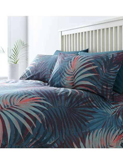 LINEA Palm Digital Print Duvet Set