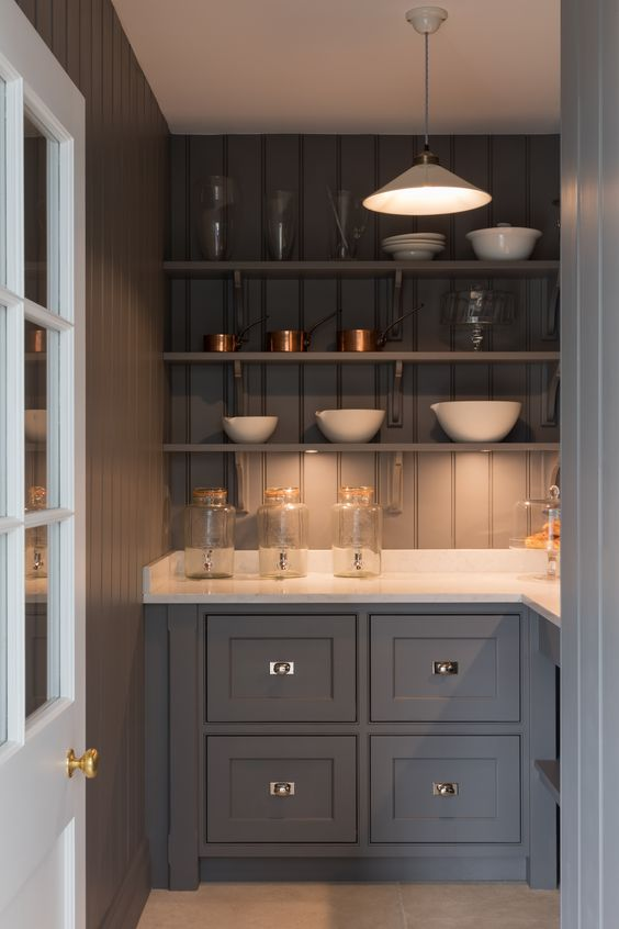 The Humphrey Munson pantry in a similar slate shade is GOALS AF!