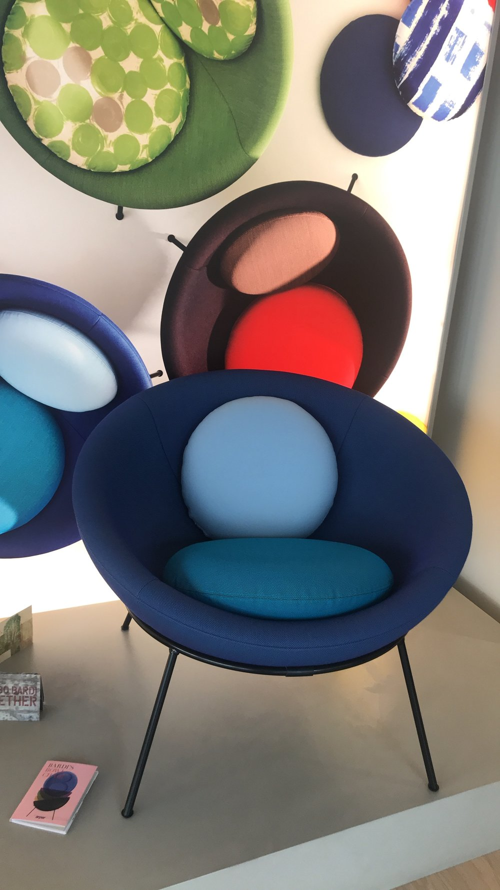 The gorgeous Bardi Bowl Chair featured in Arper's showroom