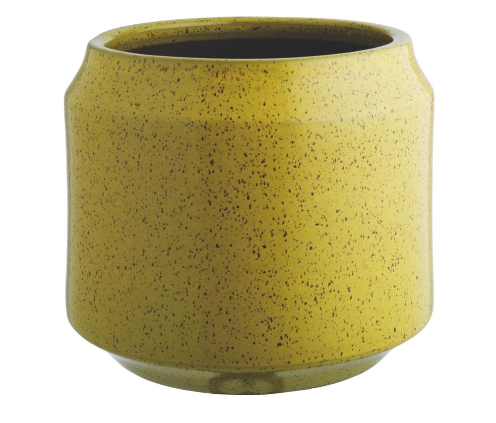 TRURO Yellow Ceramic Planter 33 X 39cm