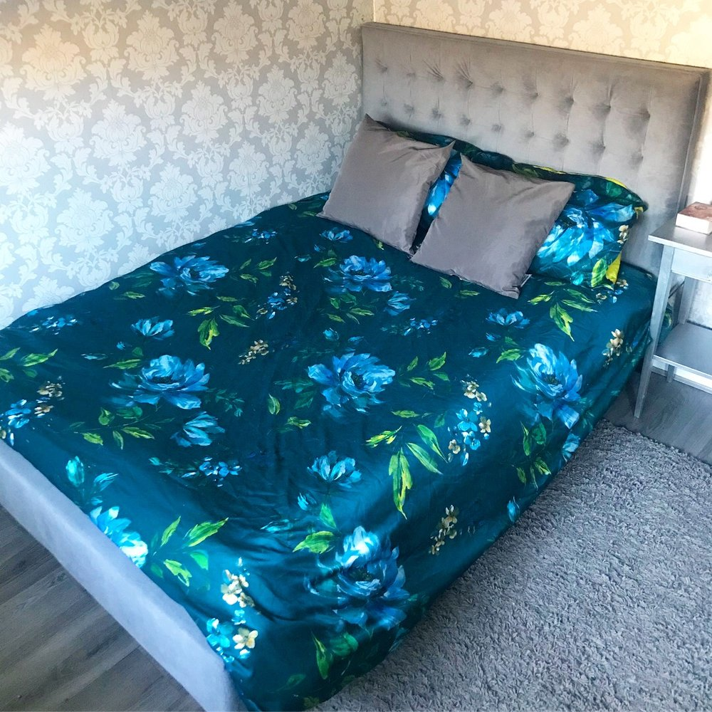 Still one of my favourite duvet cover sets ( Charm Floral Teal Reversible Duvet Cover ) from Dunelm.