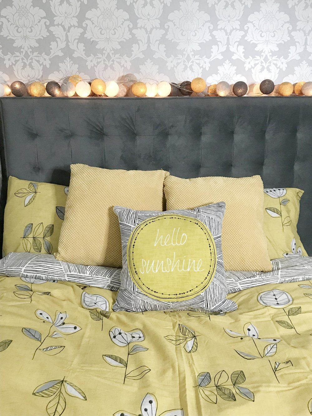 This gorgeous  Elements Sunflower Yellow Bed Linen Collection  is currently on offer in Dunelm and is priced between £9.60-£22.40.