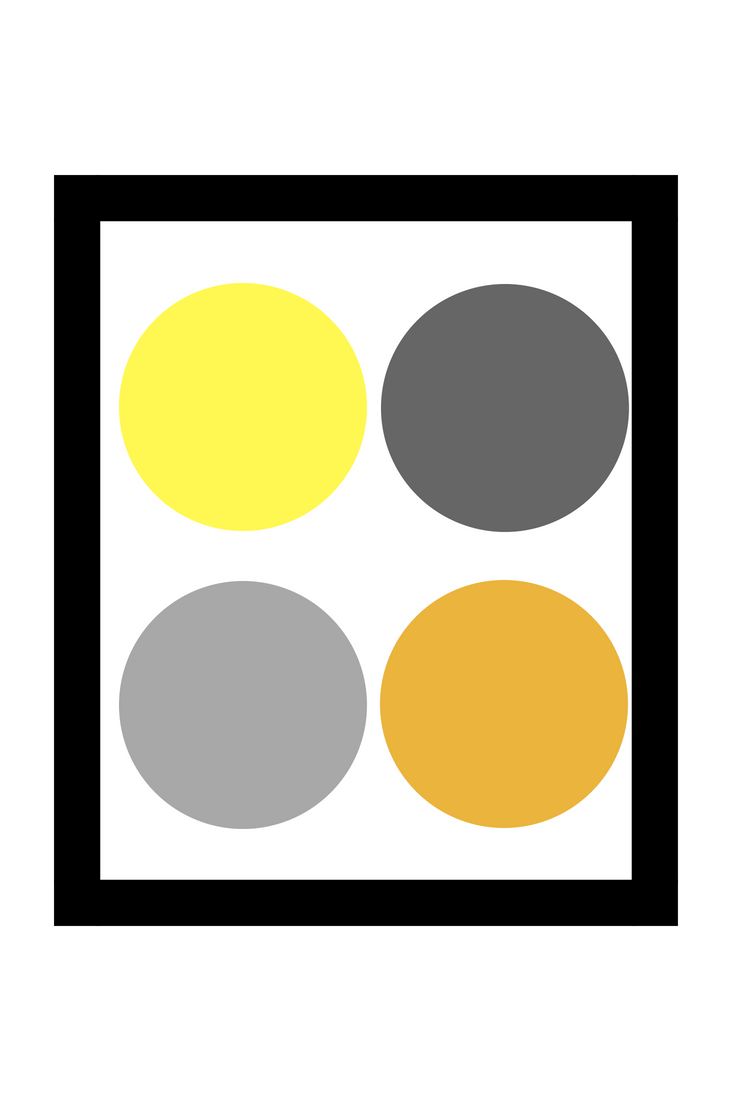 Grey and Yellow Colour Palette