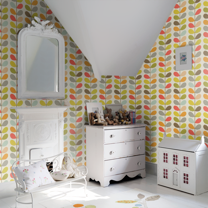 How cute does it look in a children's room? Playful and traditional...UGH, what a combination.