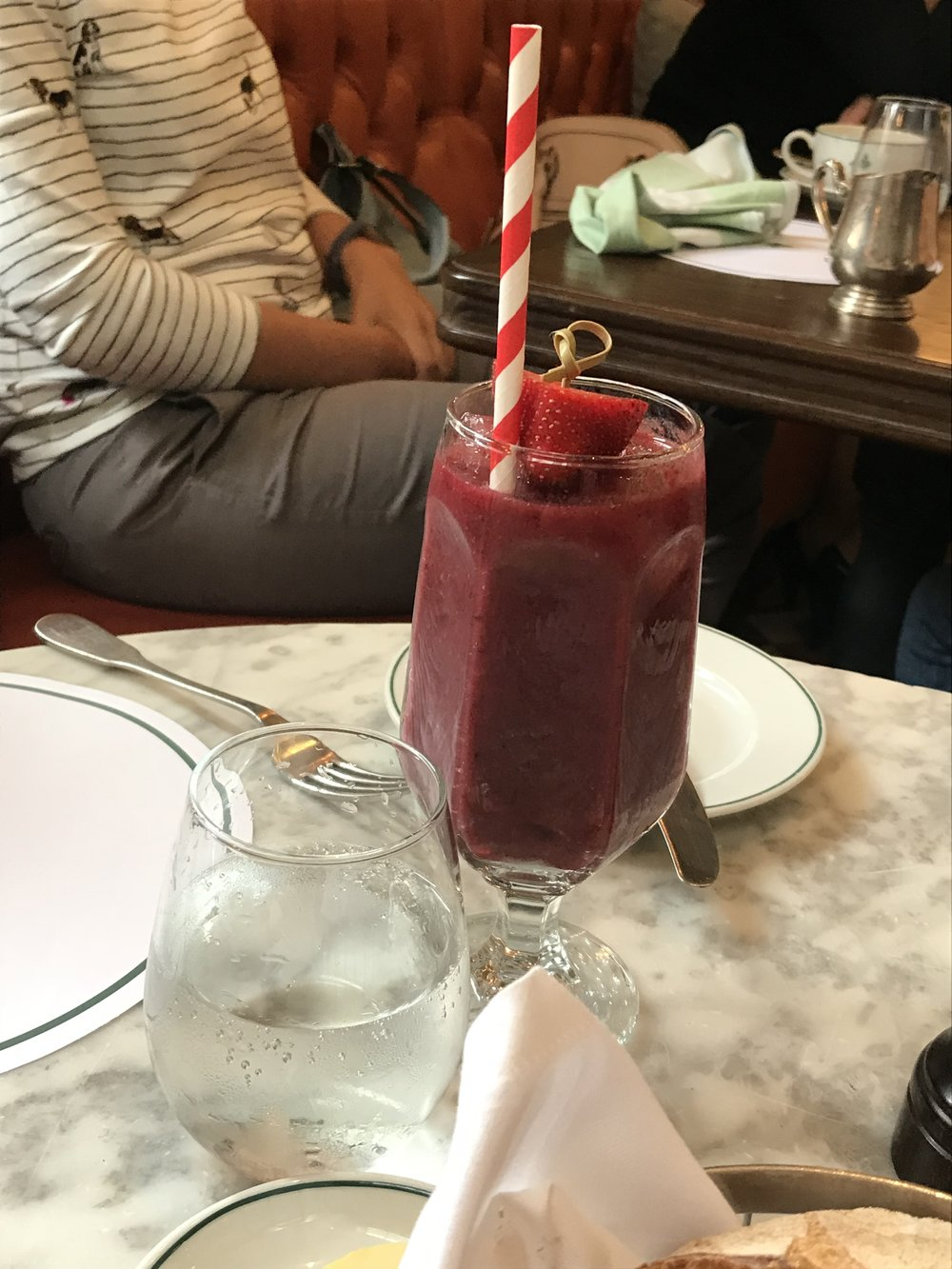 Mixed Berry Smoothie at the Ivy Richmond