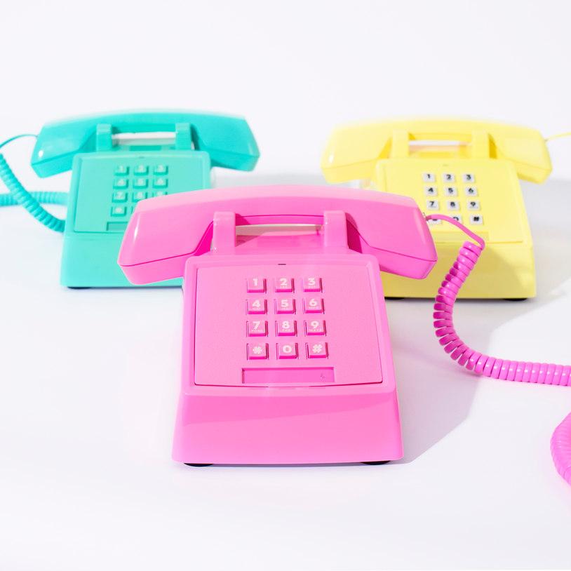 RETRO NEON TELEPHONE HANDSET