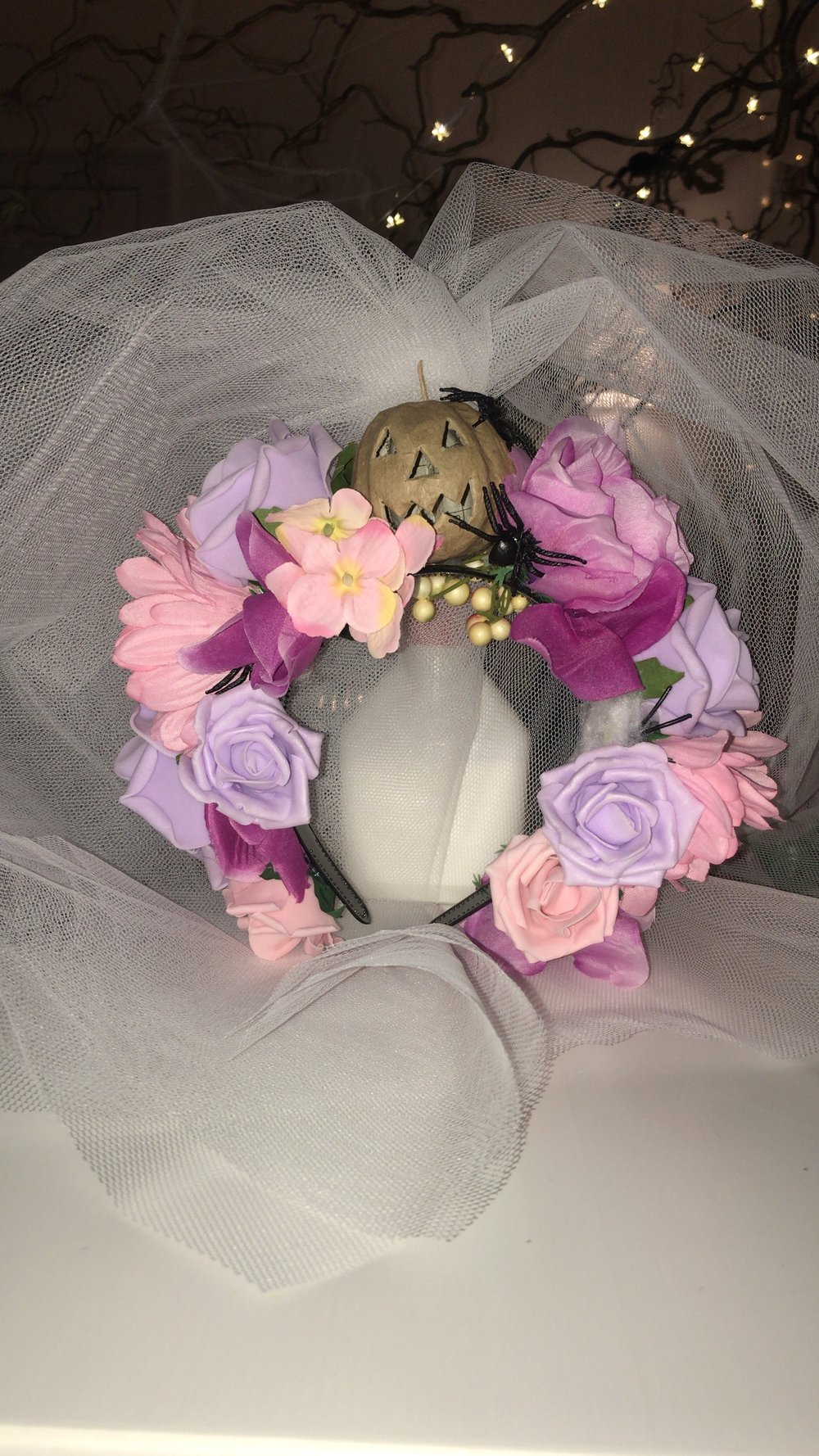 My beautiful Flower crown! I am so happy with her…