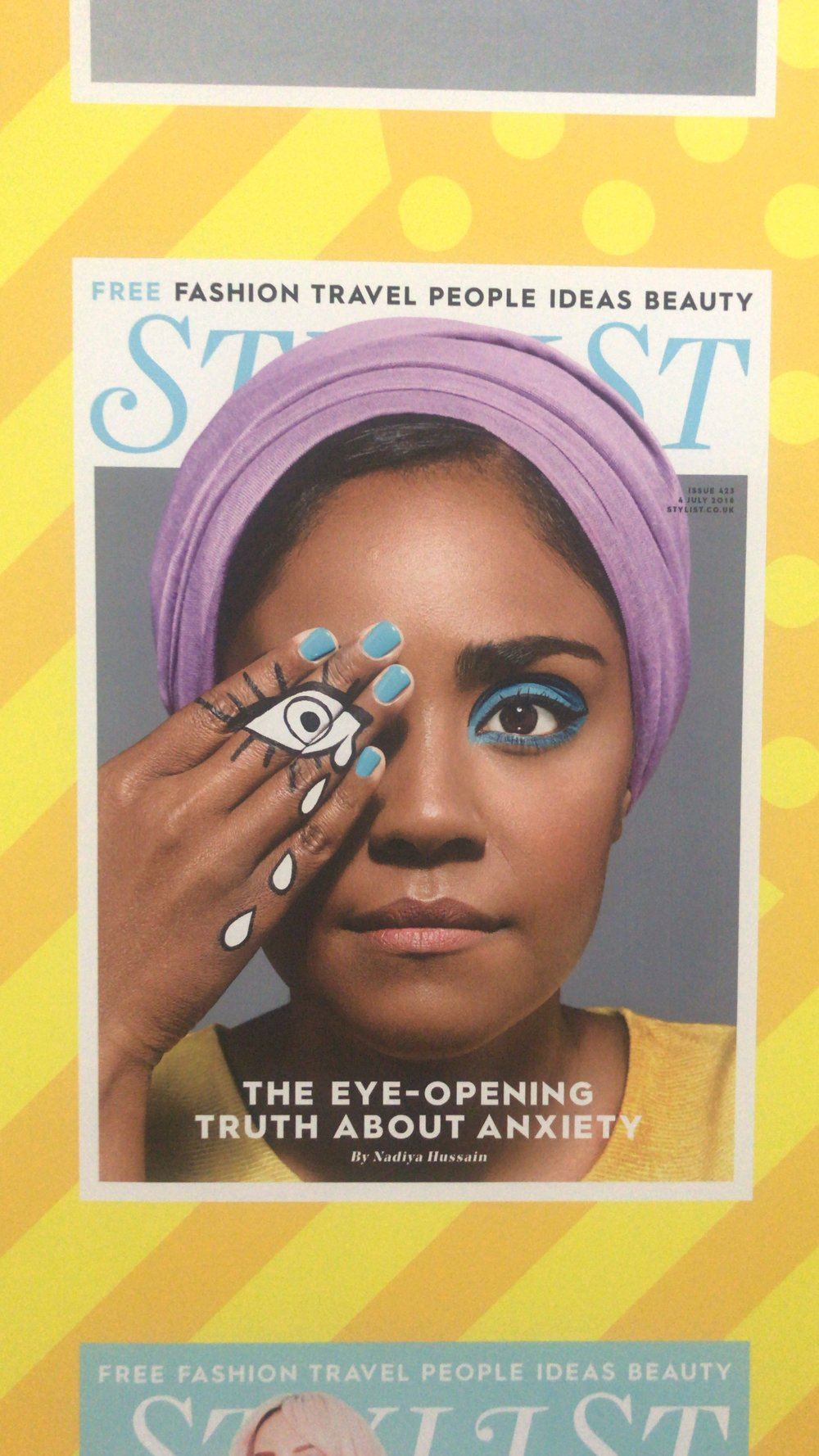 The entrance to the Stylist Live 2018 event featured a gallery wall of their magazine covers. The July 2018 edition featuring Nadiya Hussain was my ultimate fave!