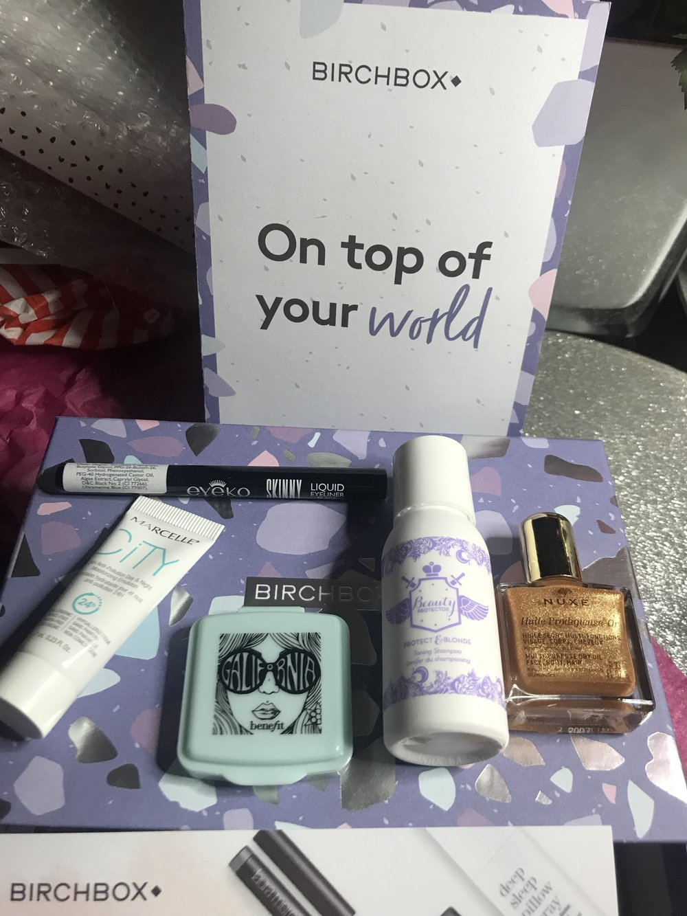 Here's a look at the box I won from Birchbox