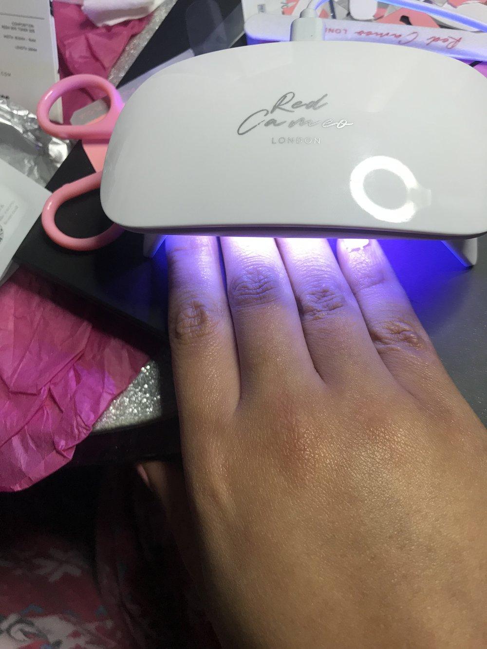 Mini led lamp nails