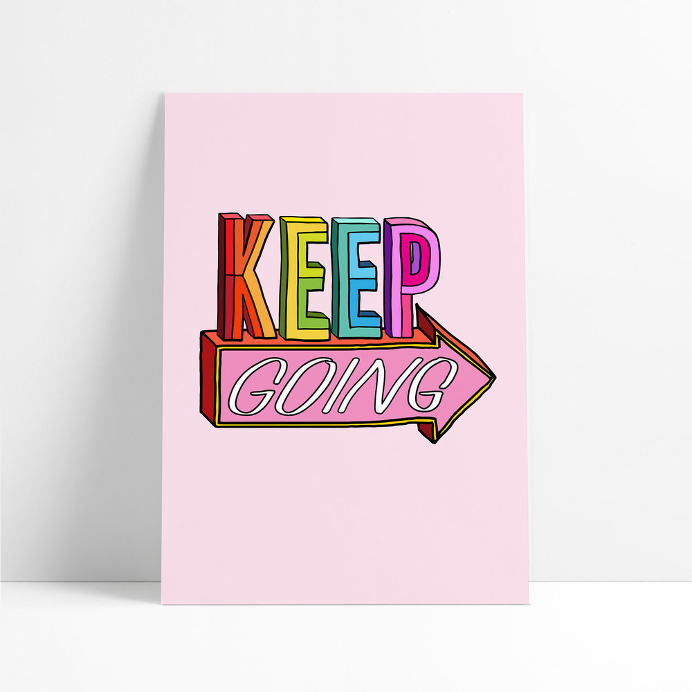 Keep Going by Liz Harry
