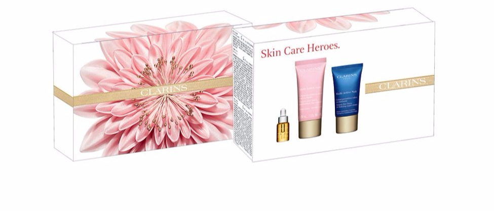 Clarins+Skincare+Heroes+Set