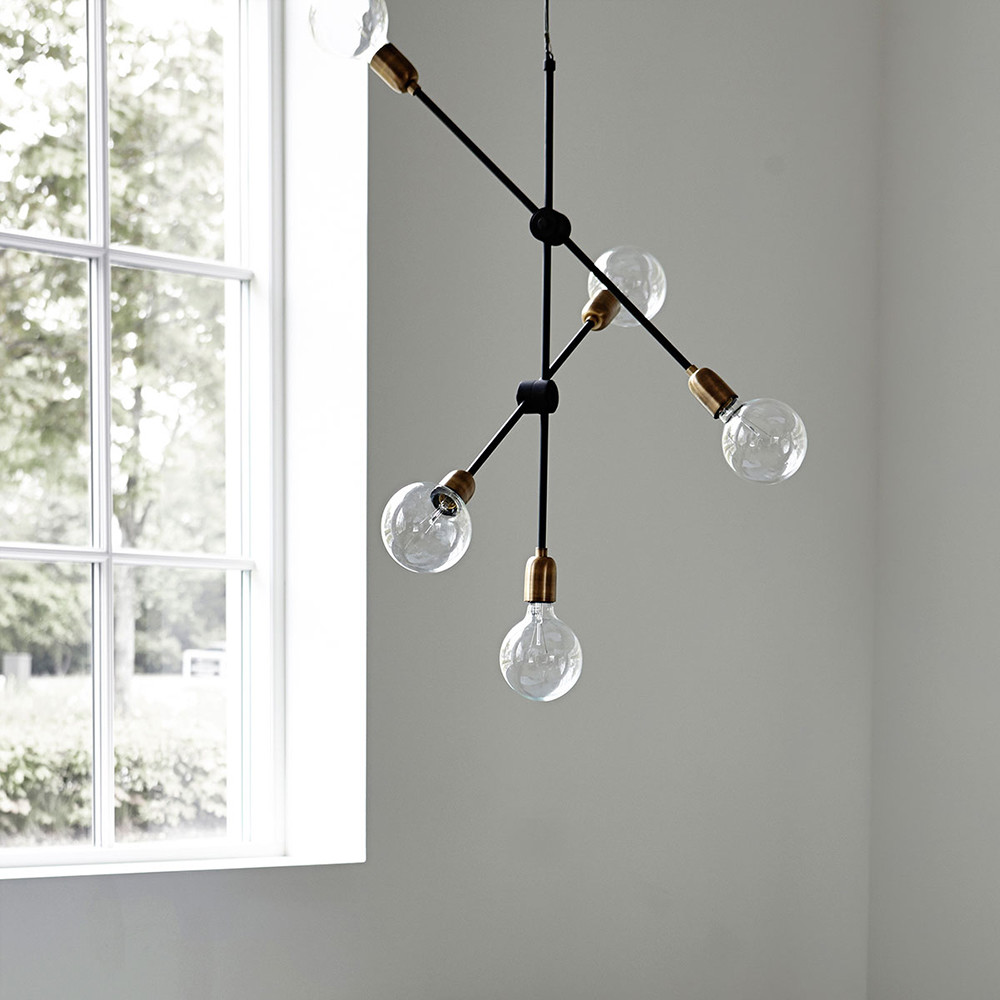 MOLECULAR CEILING PENDANT - HOUSE DOCTORMade from iron with a black coating, this 5 bulb pendant would make the perfect focal point in any room.£244