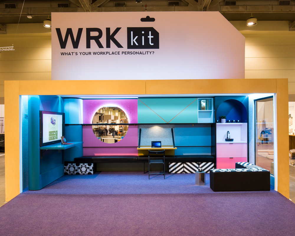 WRKkit Office Solution - The solution boasts the opportunity to compose parts into thousands of different configurations, and according to one's 'workplace personality'. - SDI Design