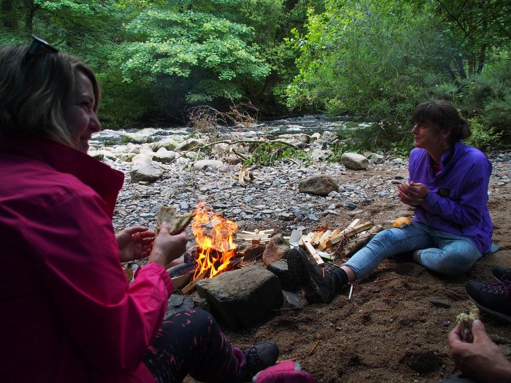 Mentoring day, deep in a Dartmoor Valley.