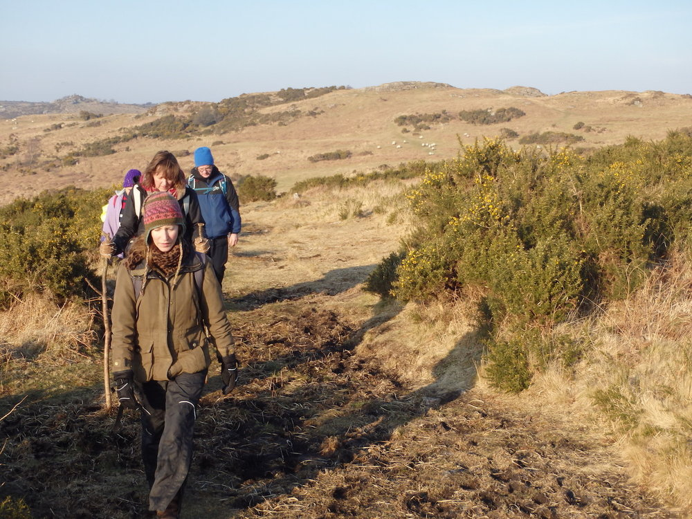 Walking out on the open moors, on a Mentoring Day