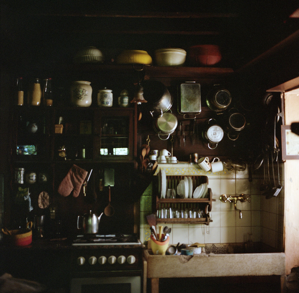 Silvana's kitchen - where I learned the beauty of using ash as soap.