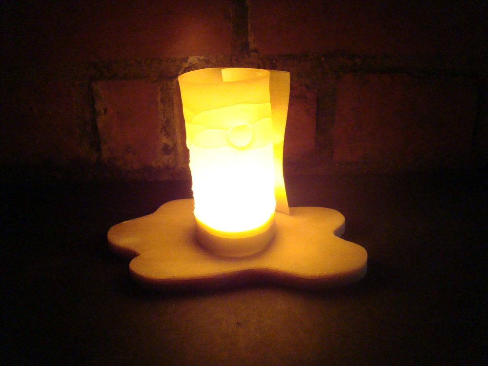 Lasagna tea light.